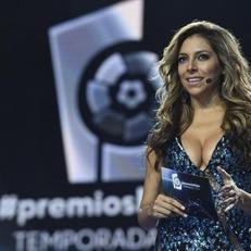 Ева Марсела - ведущая награждения лучших футболистов ЛаЛиги