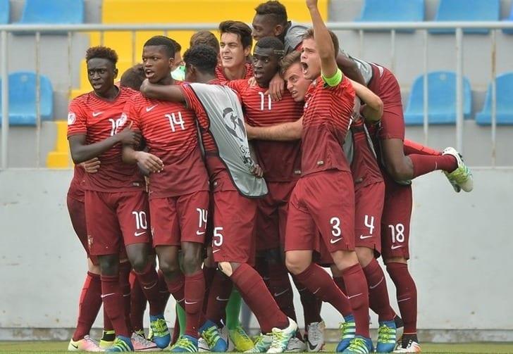 Португальцы празднуют победу, Sportsfile