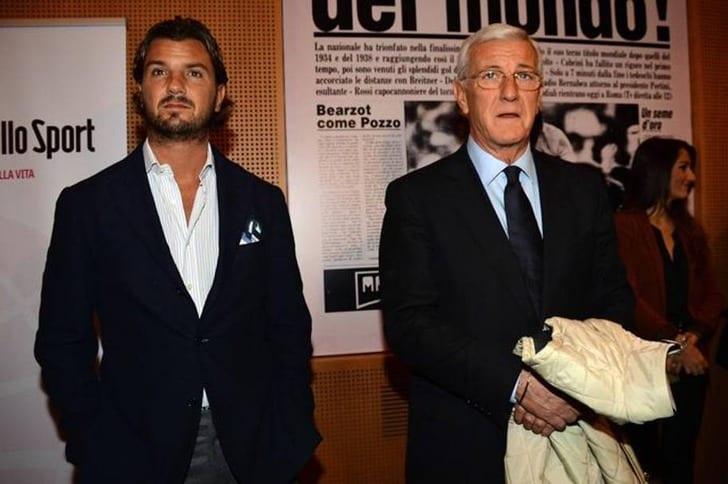 Марчелло Липпи со своим сыном, gazzetta.it