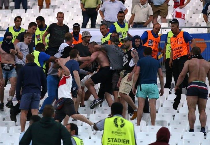 """Столкновение фанатов на """"Велодроме"""", Getty Images"""