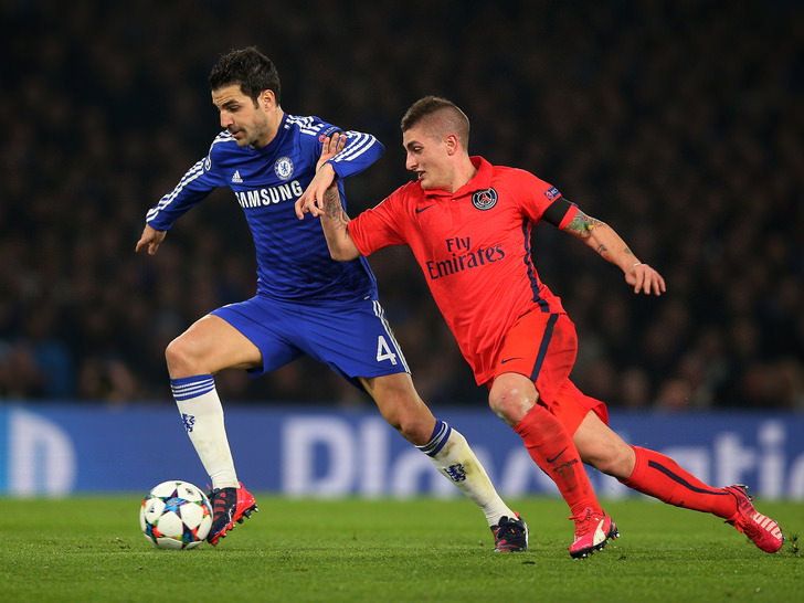 Марко Верратти в матче против Челси, Getty Images