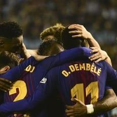 Усман Дембеле забил первый гол в чемпионате Испании