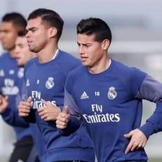 Пепе и Хамес Родригес тренируются в общей группе