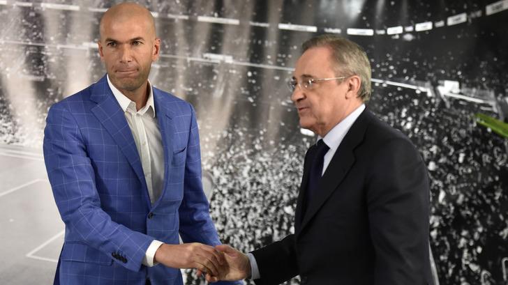 Зинедин Зидан и Флорентино Перес, goal.com