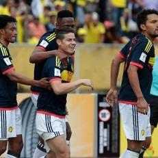 Хамес Родригес и Хуан Куадрадо помогли Колумбии обыграть Эквадор