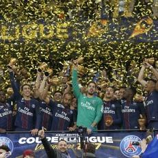 ПСЖ стал первым клубом, выигравшим 4 розыгрыша Кубка французской лиги кряду