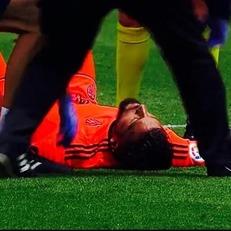 Гарай получил травму головы и был доставлен в больницу