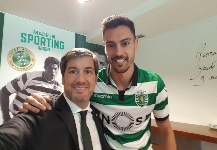 Андре Пинту (справа), sporting.pt