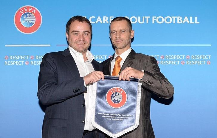 Андрей Павелко (слева) и Александер Чеферин, facebook.com/andriy.pavelko