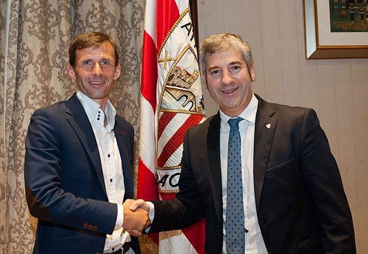 Хосе Анхель Сиганда (слева), athletic-club.eus