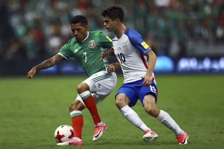 Мексика сыграла вничью сСША вотборе начемпионат мира