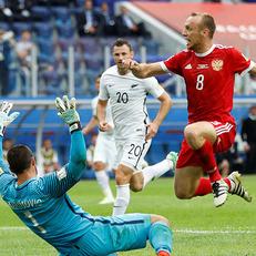 В дебютном матче Кубка Конфедераций Россия одолела Новую Зеландию