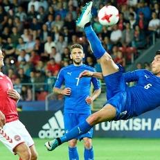 Молодежная сборная Италии переиграла Данию