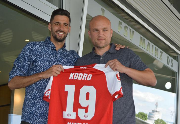 Кенан Кодро (слева), mainz05.de