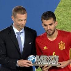 Себальос назван лучшим игроком молодежного чемпионата Европы