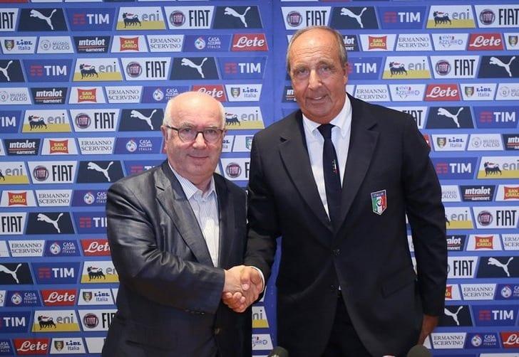 Джампьеро Вентура (справа), twitter.com/FIGC