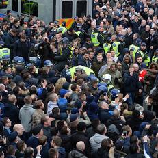 Немецкая полиция применила слезоточивый газ перед матчем Лиги Европы