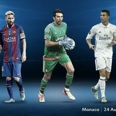 Месси, Буффон и Роналду претендуют на звание игрока года в Европе