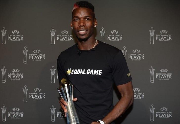Футболист «МЮ» Погба признан лучшим игроком Лиги Европы