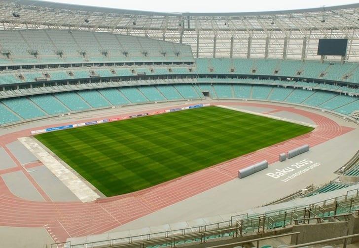"""""""Олимпийский стадион"""" в Баку, uefa.com"""