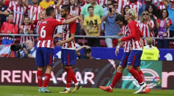 «Атлетико» обыграл «Севилью» ивышел на 2-ое место вПримере