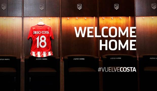 Футболист Коста официально завершил переход из«Челси» в«Атлетико»