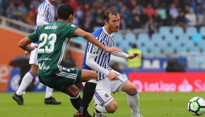 В необыкновенном матче «Реал Сосьедад» и«Бетис» забили восемь мячей надвоих