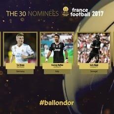 France Football продолжает называть имена претендентов на Золотой мяч