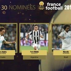 France Football назвал имена пяти первых номинантов на Золотой мяч