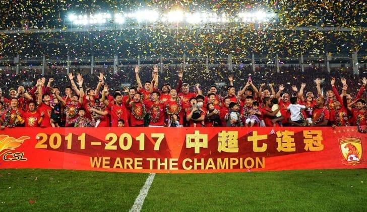 «Гуанчжоу Эвергранд» стал чемпионом Китая в седьмой раз подряд