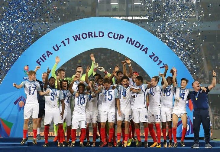 Сборная Англии U-17 празднует победу на ЧМ-2017, fifa.com