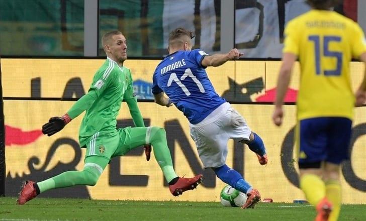 2 представителя РФПЛ сыграют вматче Италия— Швеция спервых минут