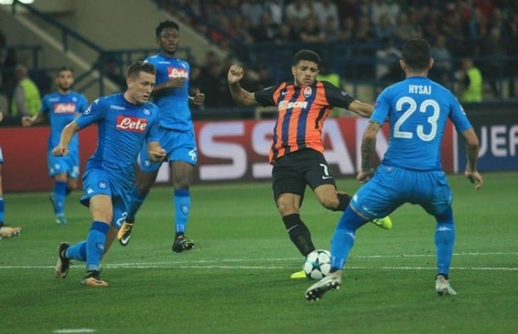 «Шахтер» проиграл «Наполи» вЛиге чемпионов УЕФА