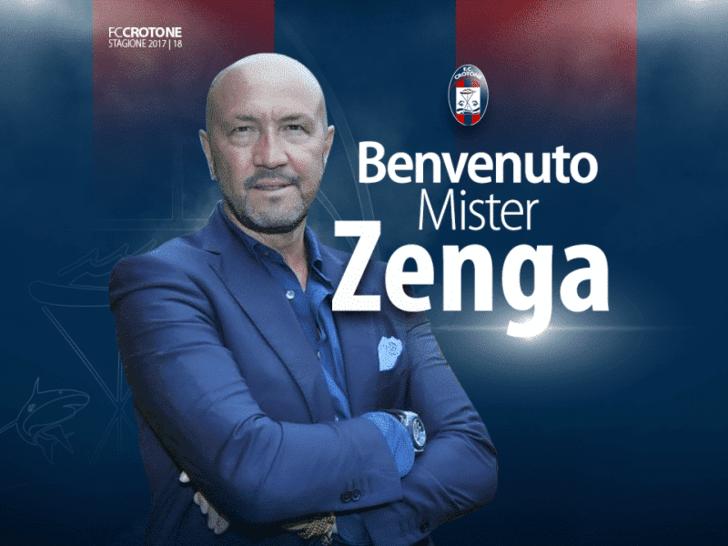 Вальтер Дзенга возглавил итальянский футбольный клуб «Кротоне», выступающий всерии А