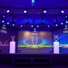 В Киеве презентовали логотипы и кубки Лиги чемпионов