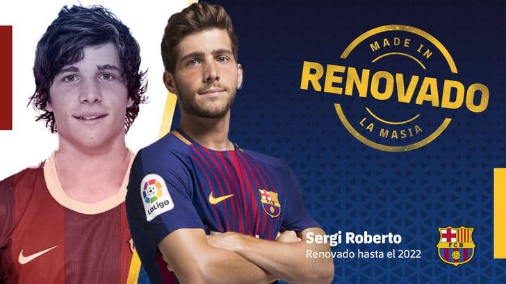 Серхи Роберто продлил договор с«Барселоной»