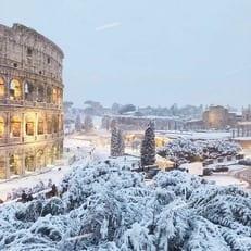 """""""Милан"""" и """"Лацио"""" отменили тренировки из-за снегопада в Риме"""