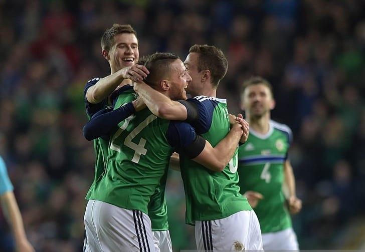 Северная Ирландия празднует гол в ворота Словении, Getty Images