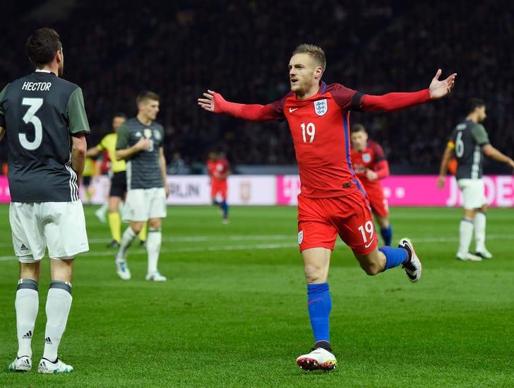 Варди празднует гол в ворота сборной Германии / Фото: Getty Images