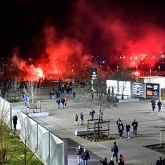 """Восемь французских полицейских пострадали перед игрой """"Лиона"""" и ЦСКА"""