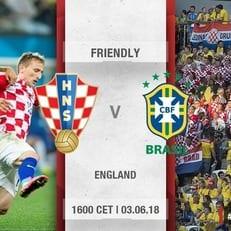 Хорватия и Бразилия проведут товарищеский матч перед ЧМ-2018