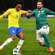 Германия минимально уступила Бразилии