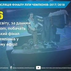 Финал Лиги чемпионов в Киеве будет показан в 226 странах