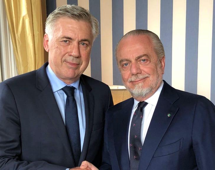 Карло Анчелотти (слева), фото: ФК Наполи