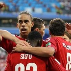 ЧМ-2018: Юссуф Поульсен - лучший игрок матча между Данией и Перу
