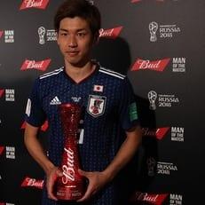 Осако признан лучшим игроком матча Колумбия – Япония