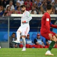 Жерар Пике провел 100-й матч за сборную Испании