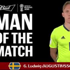 Людвиг Аугустинссон - лучший игрок матча Швеция - Мексика