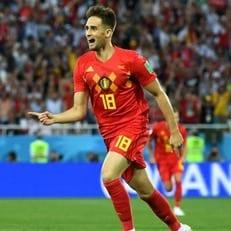 Аднан Янузай признан лучшим футболистом матча Англия - Бельгия