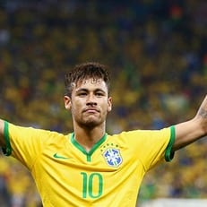 Неймар - лучший игрок матча Бразилия - Мексика